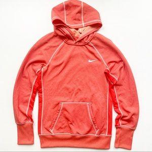 Nike Therma Fit Orange Fleece Hooded Sweatshirt